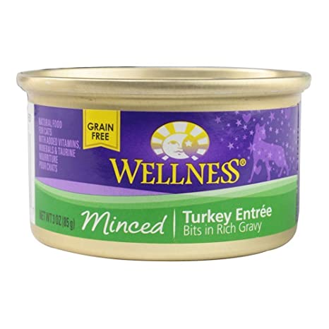 Amazon.com : RFG Distributing Wellness Minced Canned Wet Cat Food Variety Pack - 3 Oz. - 3 Flavors - Chicken Dinner, Tuna Dinner, and Turkey Entree (6 Cans ...