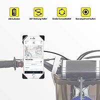 Support universel rotatif à 360° pour téléphone portable avec port de charge USB compatible avec iPhone X 8 7 6 5 Plus Samsung Note 8 7 6 5 S3 S4 S5 S6 S7 S8 Edge Sony Huawei