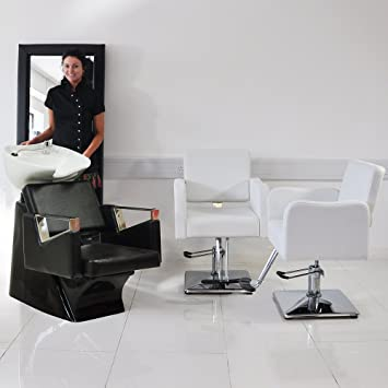 3 Piece White Hair Salon Furniture Set Amazon Co Uk Health