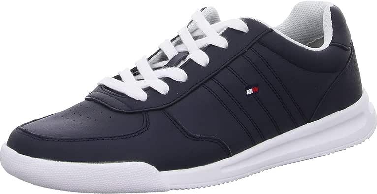Tommy Hilfiger Lightweight Leather Sneaker, Zapatillas para Hombre: Amazon.es: Zapatos y complementos