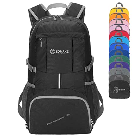 d274db4c34d7 ZOMAKE Lightweight Packable Travel Backpack, 35L Water Resistant Hiking  Daypack Foldable Backpack for Women Men, Outdoor Camping