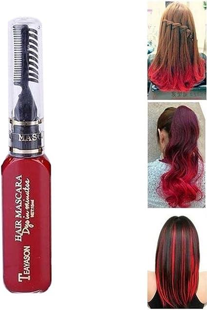 Pawaca - Tinte de pelo desechable para mujer, 13 colores, tinte de color con cepillo peine para mujeres y niñas, para teñir, fiestas, disfraces de ...
