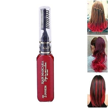Pawaca - Tinte de pelo desechable para mujer, 13 colores, tinte de ...