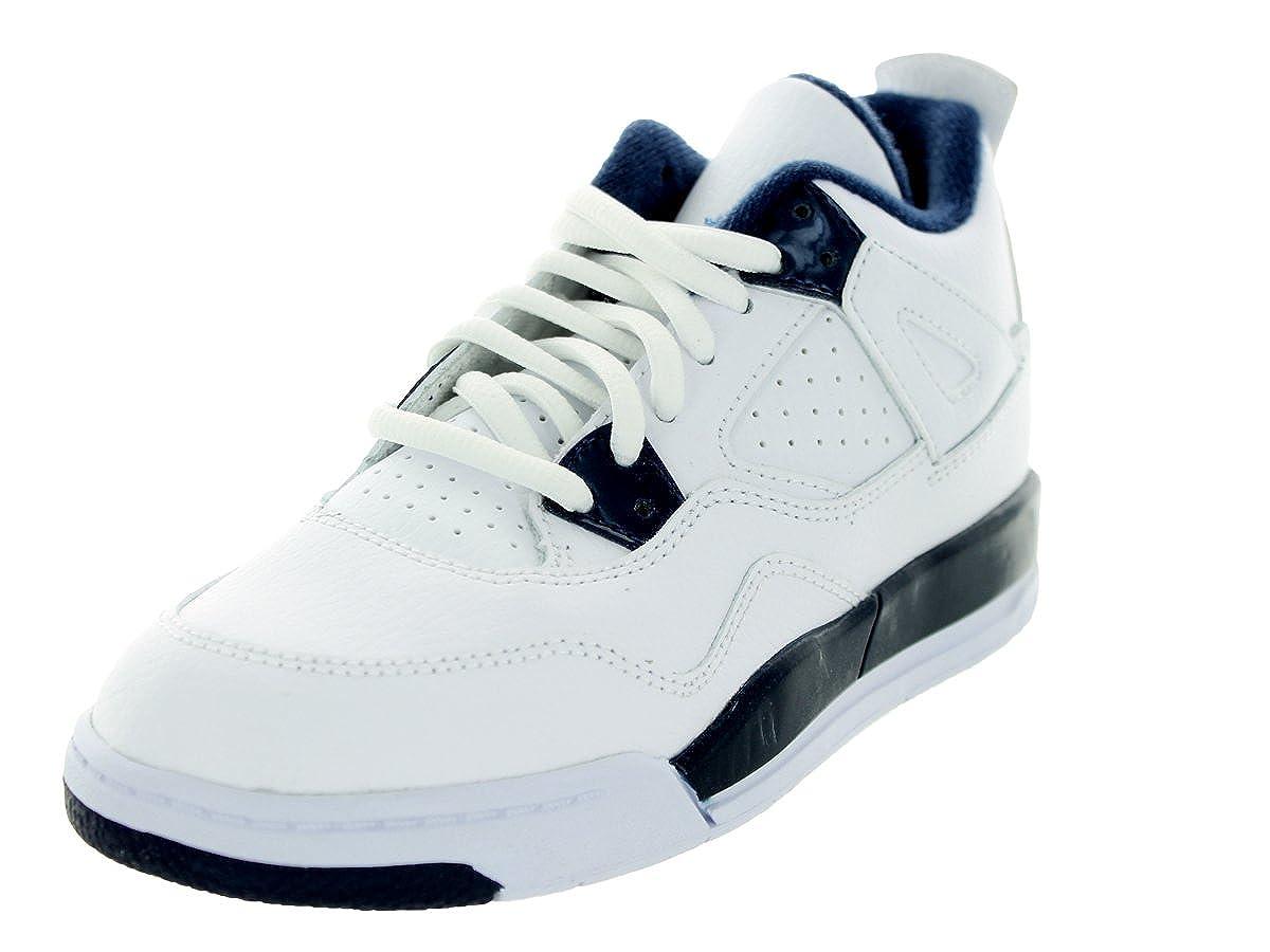 pretty nice 57564 acfa7 NIKE air Jordan 4 Retro LS BP hi top Trainers 707430 Sneakers Shoes (UK  12.5 us 13C EU 31, White Legend Blue Midnight Navy 107)
