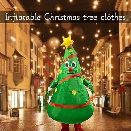 LLVV Disfraz de árbol de Navidad Inflable de 1,9 m Disfraz Disfraz ...