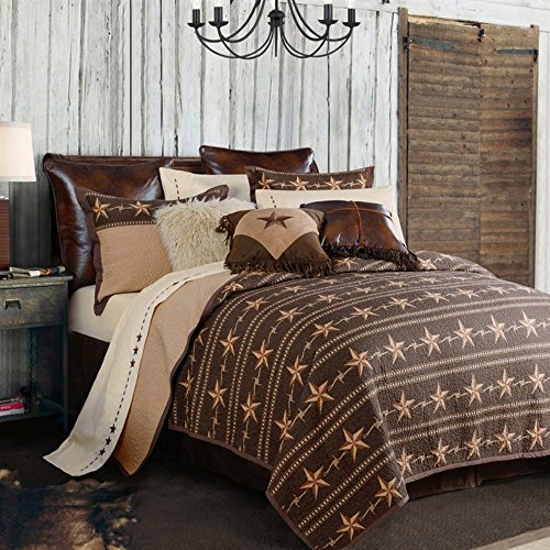 HiEnd Accents 2-PC Reversible Star Ranch Quilt Set, Twin