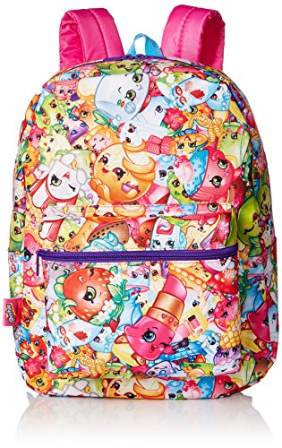 Shopkins Little Girls Print Backpack, Multi, One (Lip Mop)