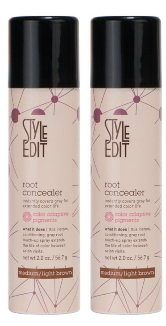 Style Edit Root Concealer Factory Fresh, Medium Light, Brown 2oz 2 Pack