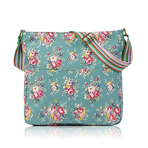 Bag Green Owl Canvas Cross Flower Messenger Ladies Dots Bag Bag Body Flower London School Girls Butterfly Polka Craze TPwRqvgIx8