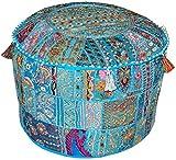 Vintage Indian,Cotton Ottoman patchwork Pouf Cover,Home Decor Pouf Cover,Living-Room 23x13