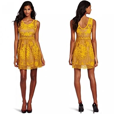 4e9128255f64 Image Unavailable. Image not available for. Color: Anthropologie Honeycomb  Lace Dress by Yoana Baraschi ...
