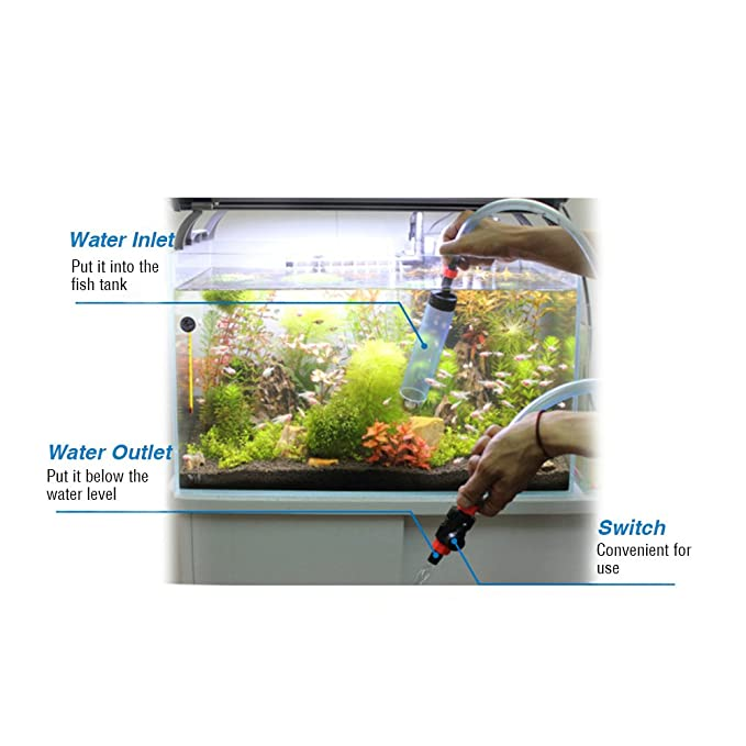 Anself - Limpiador de Grava Lavadora Sifón de Acuario Tanque de Peces (Para Cambio el Agua/Limpieza/Lleno el Sistema de Mantenimiento): Amazon.es: Hogar