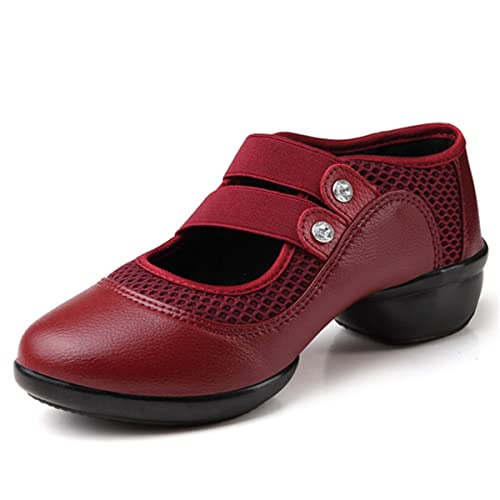 gracosy Merceditas Zapatos Bajos de Mujer Mocasines Cerrados de tacón Medio para Mujer Zapatos Deportivos en