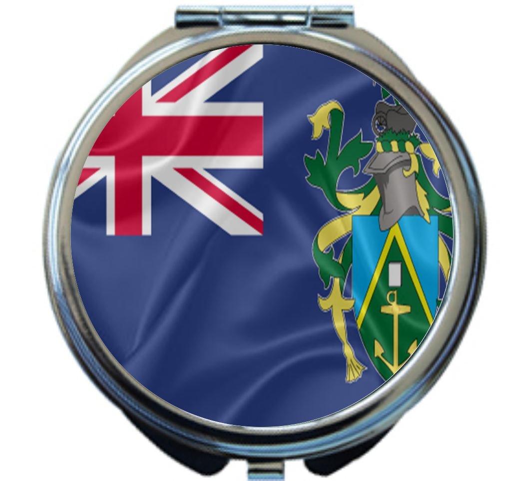 Rikki Knight Pitcairn Islands Flag Design Round Compact Mirror by Rikki Knight