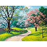 Type of painting: Digital painting Visual effects: flat Specifications: canvas + brush 3 + paint Title: Four seasons trees landscape painting Size: 40x50 cm Production methods: pure hand-painted It will be the best present for your family fri...