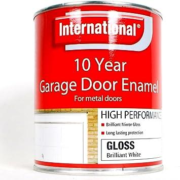 Internacional 10 años garaje puerta pintura de esmalte para puertas metálicas 750 ml blanco brillante.: Amazon.es: Bricolaje y herramientas
