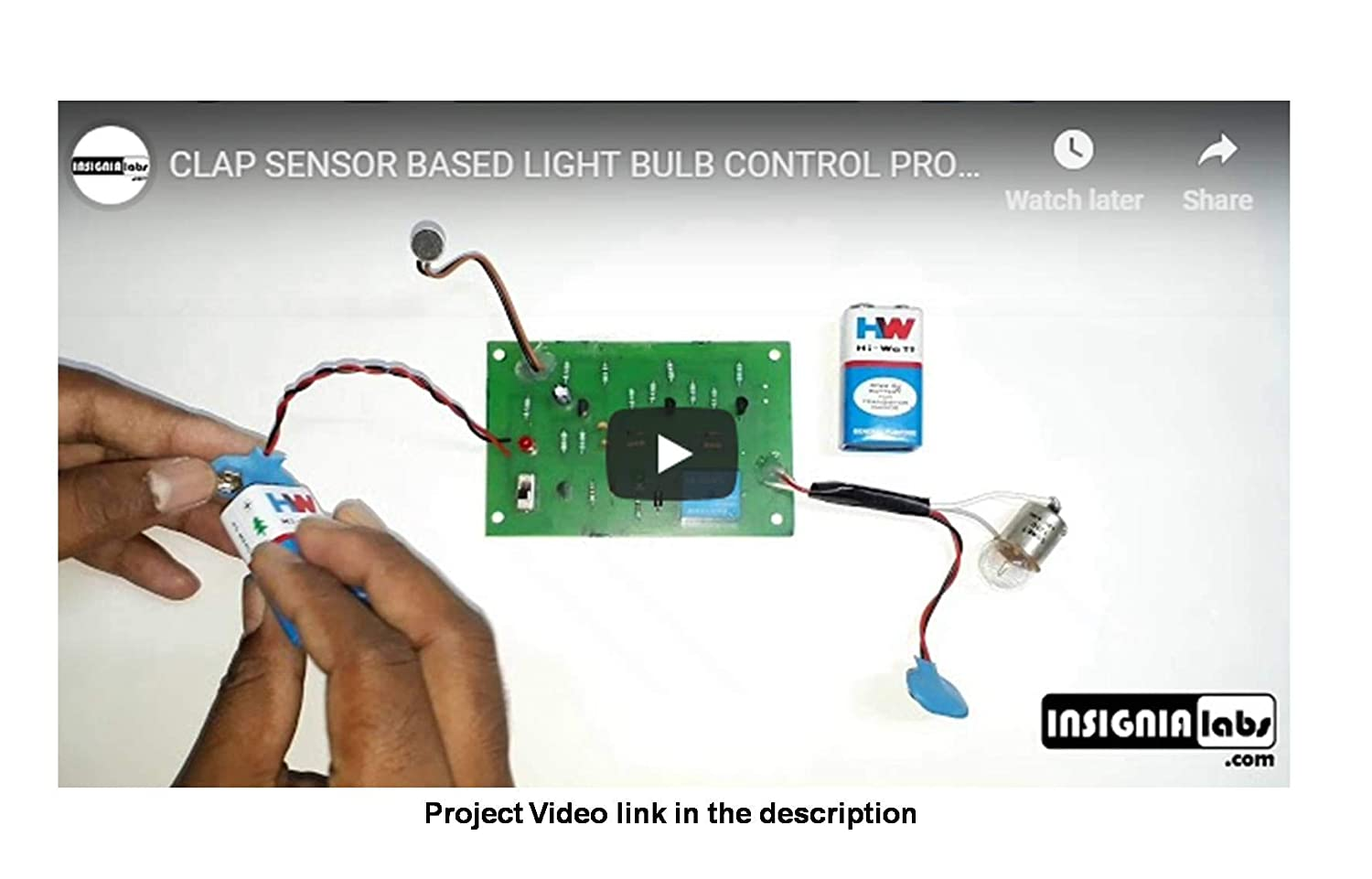 Buy Insignia Labs Clap Switch Based Light Bulb Control Kit Project Circuit Double Homemade Electronic School College Online At Low Prices In India