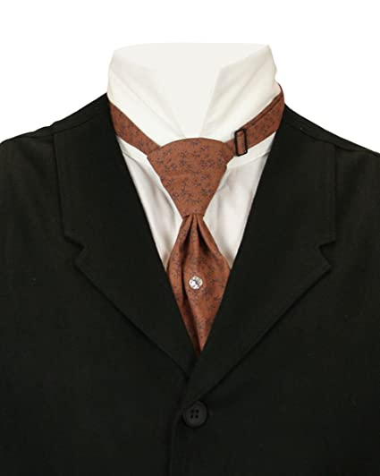 Victorian Mens Ties, Ascot, Cravat, Bow Tie, Necktie Historical Emporium Mens Cotton Teck Tie $23.95 AT vintagedancer.com