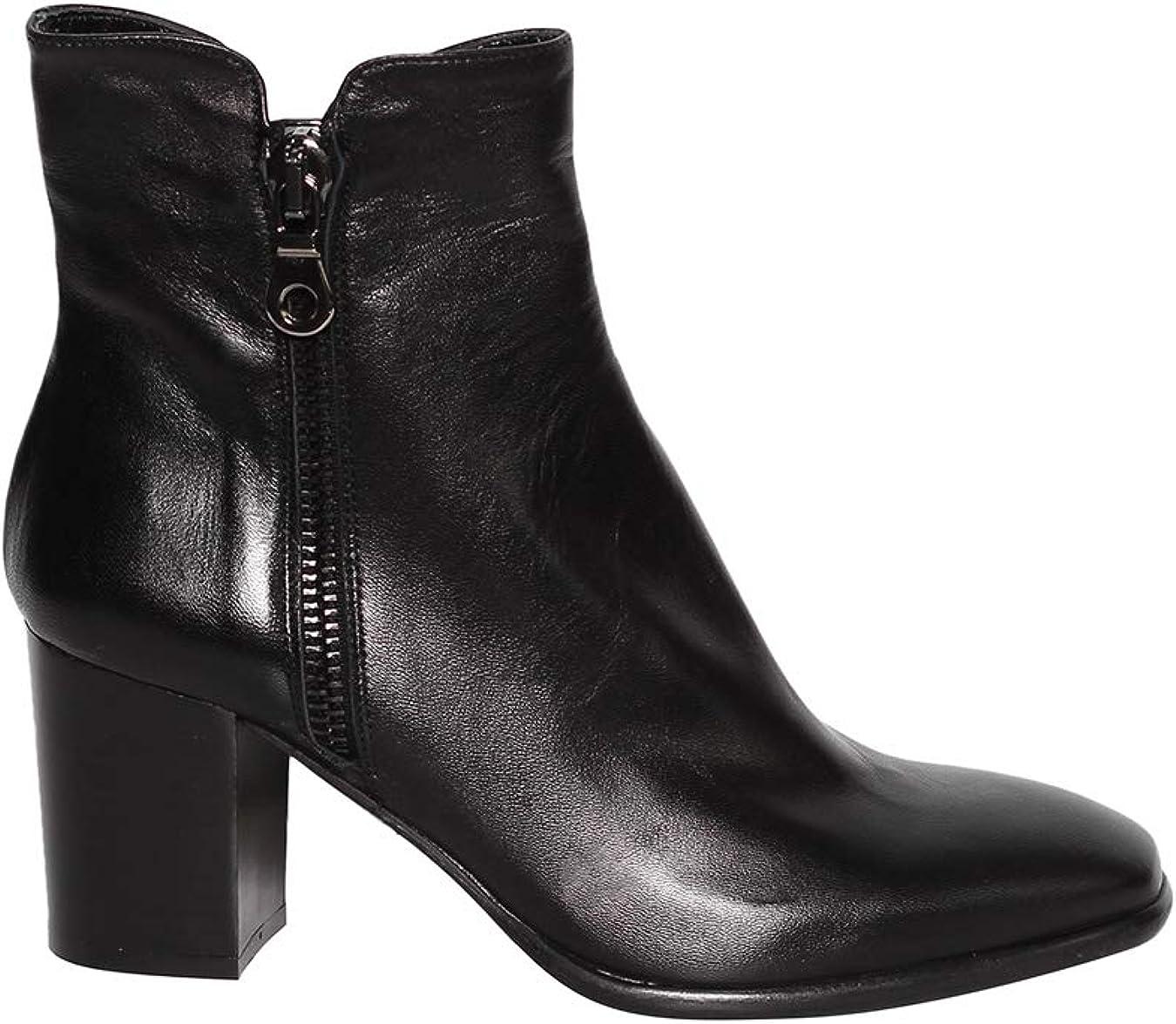 Stivali con tacco 3,5 cm camoscio e look in pelle lucida