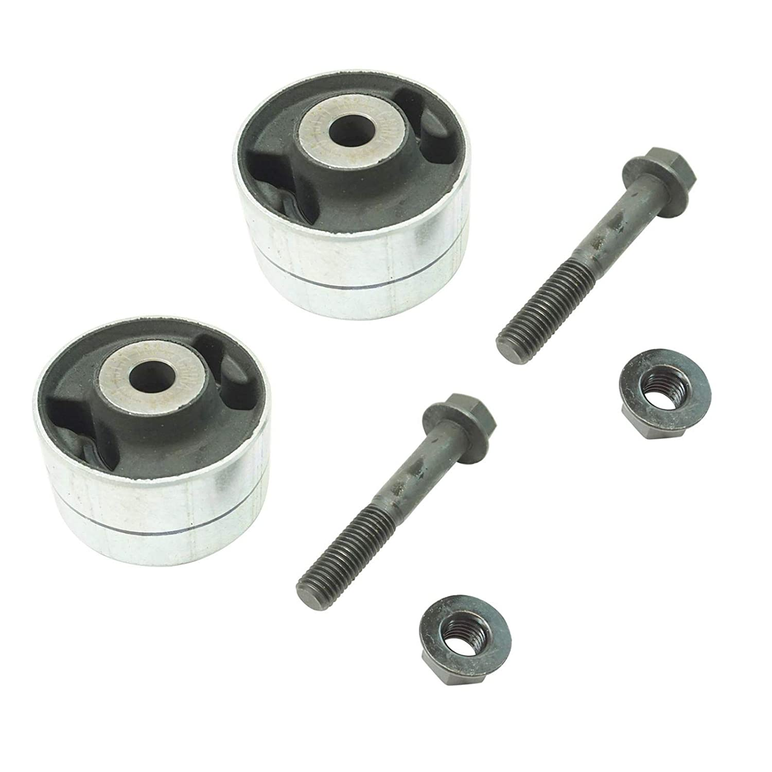 Rear Lower Trailing Arm Bushing w/Bolt & Nut LH RH Pair for Equinox Torrent Vue AM Autoparts