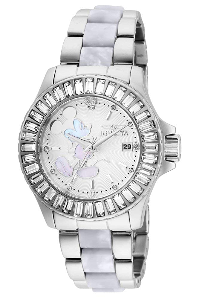 Invicta Women s Disney Limited Edition Quartz Watch with Stainless Steel Strap, Two Tone, 20 Model 27273