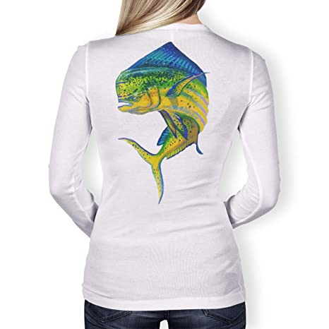 da5d779c4 Southern Fin Apparel Womens Performance Fishing Shirt Girls Ladies Long  Sleeve (X-Small,