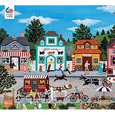 CEACO HAPPY-GO-LUCKY BY JANE WOOSTER SCOTT 300 OVERSIZED PIECES 18 x 24: Toys & Games