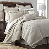 Samantha 8-Piece Queen Size Comforter Set-Hypoallergenic Down Alternative Fill-Bed in a Bag