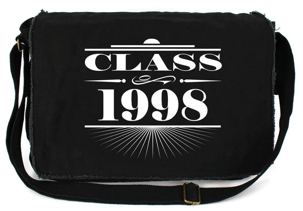 Tenacitee Art Deco Class of 1998 Royal Blue Brushed Canvas Messenger Bag