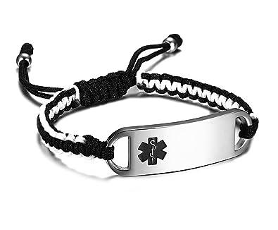 Amazon com: JF JEWELRY Medical Alert ID Bracelets for Girls