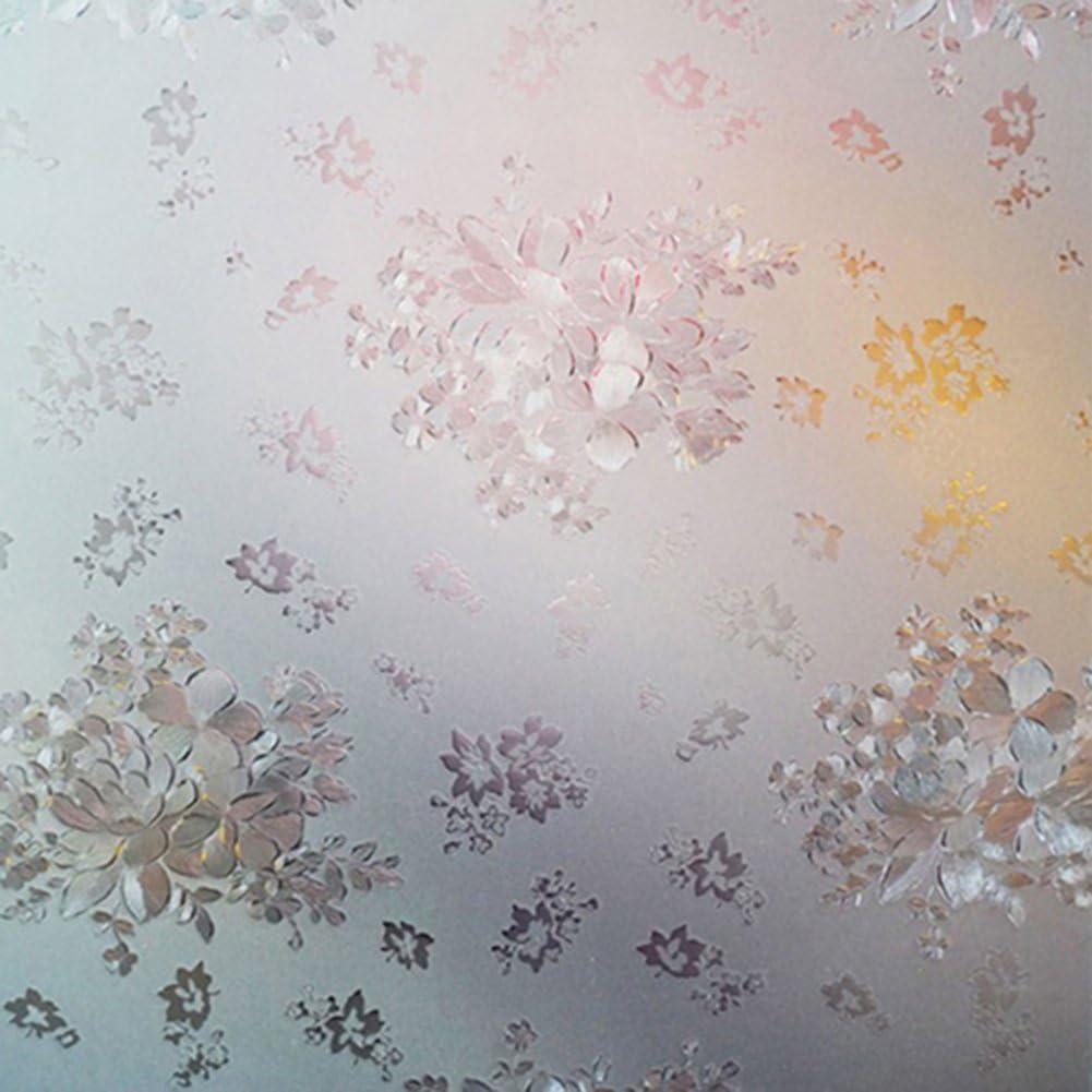 Weiß Efeu Selbsthaftend Milchglas Glasfolie Dekorfolie Sichtschutz Folie 200cm