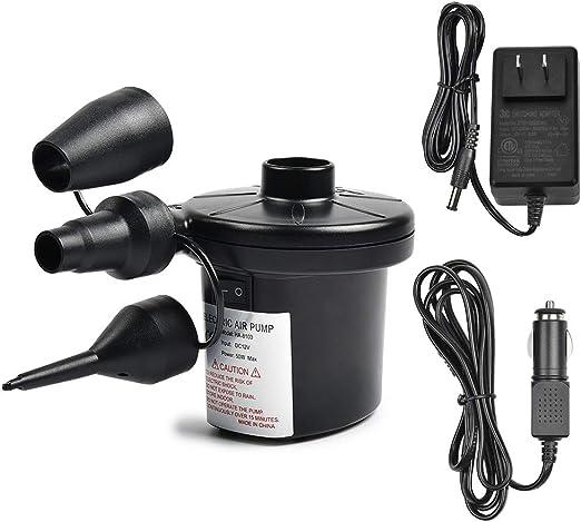 Amazon.com: Portable Bomba de aire eléctrica, DC12 V AC 100 ...