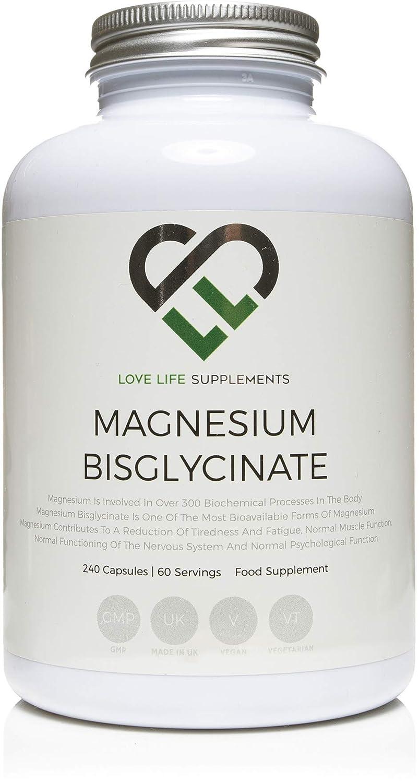 ... 240 cápsulas/60 porciones, forma altamente biodisponible de magnesio, producto bajo licencia UK/GMP: Amazon.es: Salud y cuidado personal