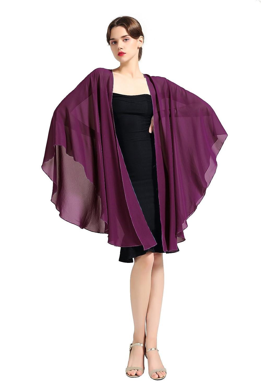 Femme Elégant écharpe Etole Châle Foulard Boléro en Mousseline de Soie pour  Robe de Soirée Mariage 38a7b209480
