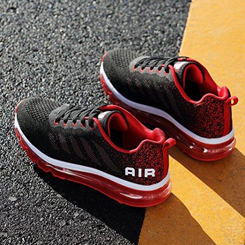 Sneakers Shoes Ginnastica Scarpe Unisex Basse Fitness Rosso Corsa da Casual Ragazza Uomo Running Basse Basket da Gym Scarpe SUADEEX Donna Sportive Ragazzo 4nRqaX4f