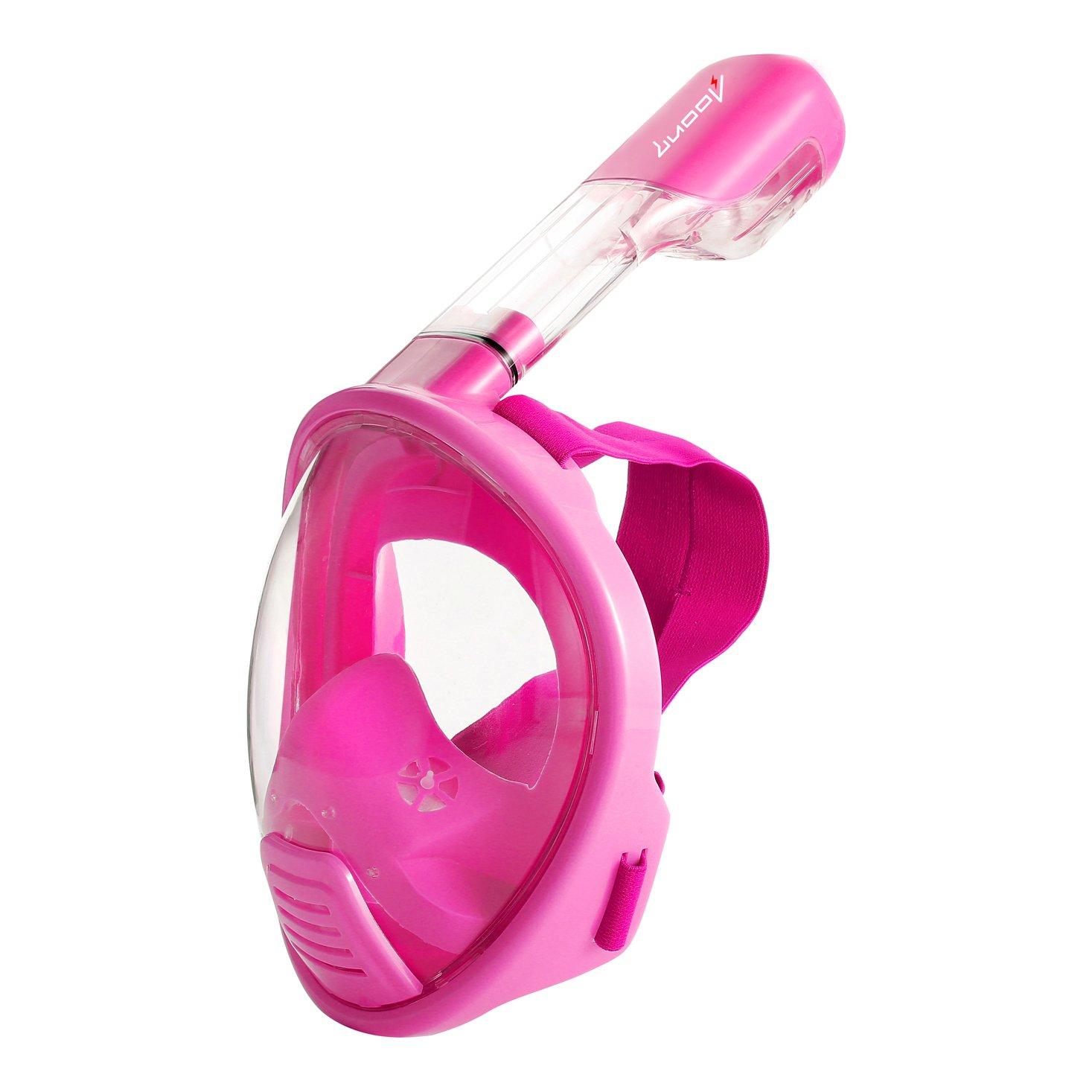 Luoov Full Face Easybreath, maschera da snorkeling per bambini, maschera subacquea per ragazzi e bambini