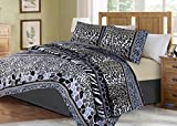 no!no! Printed Animal Designs Bedspread Coverlet Quilt Set with Pillow Shams Animal 6# Size Queen