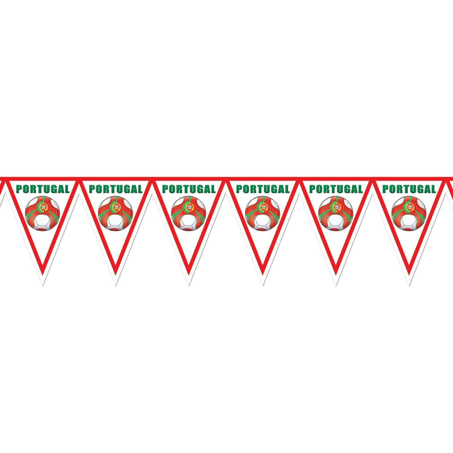 Pack of 6 Red, Green and White ''Portugal'' Soccer Themed Pennant Banner Party Decorations 7.4'