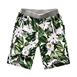 OnlyAngel Kids Boys Casual Flower Printed Summer Elastic Waist Beach Shorts Size 4-13 Years (12-13 Years)