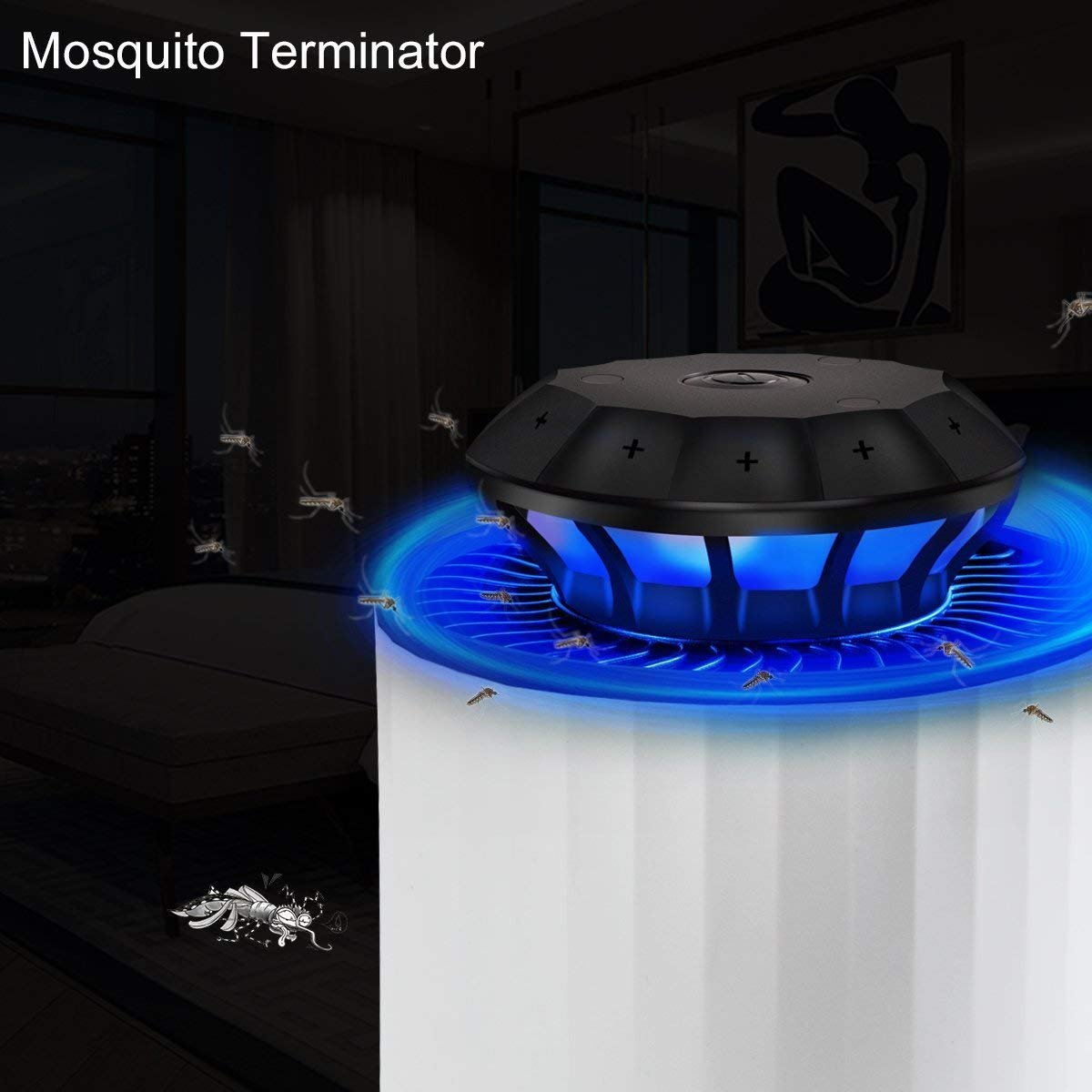 Mery Electric Insect Trap Indoor Bug Fly Mosquito Trap Killer – UV Light, Fan Suction Traps Even the Tiniest Flying Insects – No Zapper – Child-Safe, Non-Toxic Odor-Free (White) by Mery (Image #7)