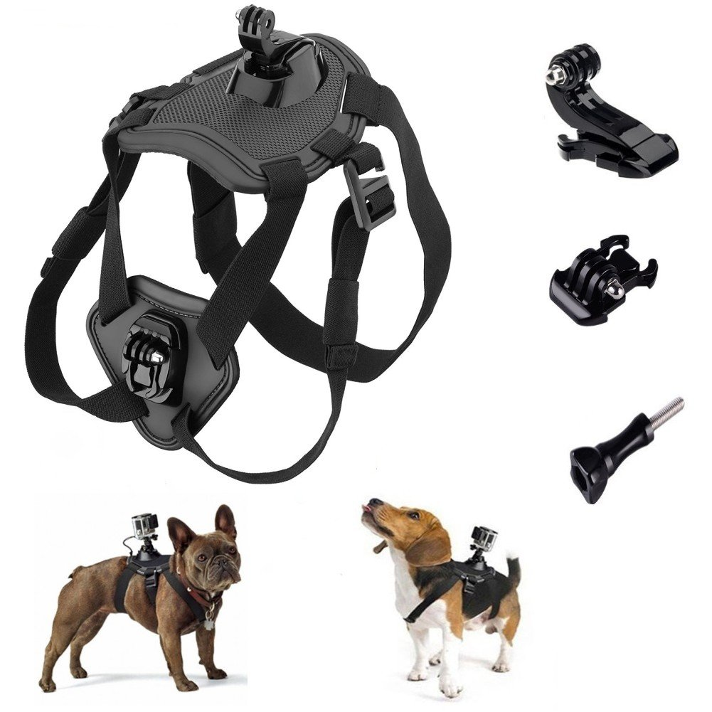 Makit Dog Harness Back Chest Mount with Buckle Screw for Gopro Hero 6/Gopro Hero 5/5/4session Gopro Hero (2018) Xiaoyi Sjcam Action Cameras