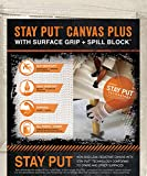 Stay Put 04328 Canvas Drop Cloth with Slip Resistant Surface Grip and Spill Block, 4' x 12'