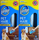 Pledge Fabric Sweeper for Pet Hair, Empty and Reuse, 1 Sweeper (2 Pack)