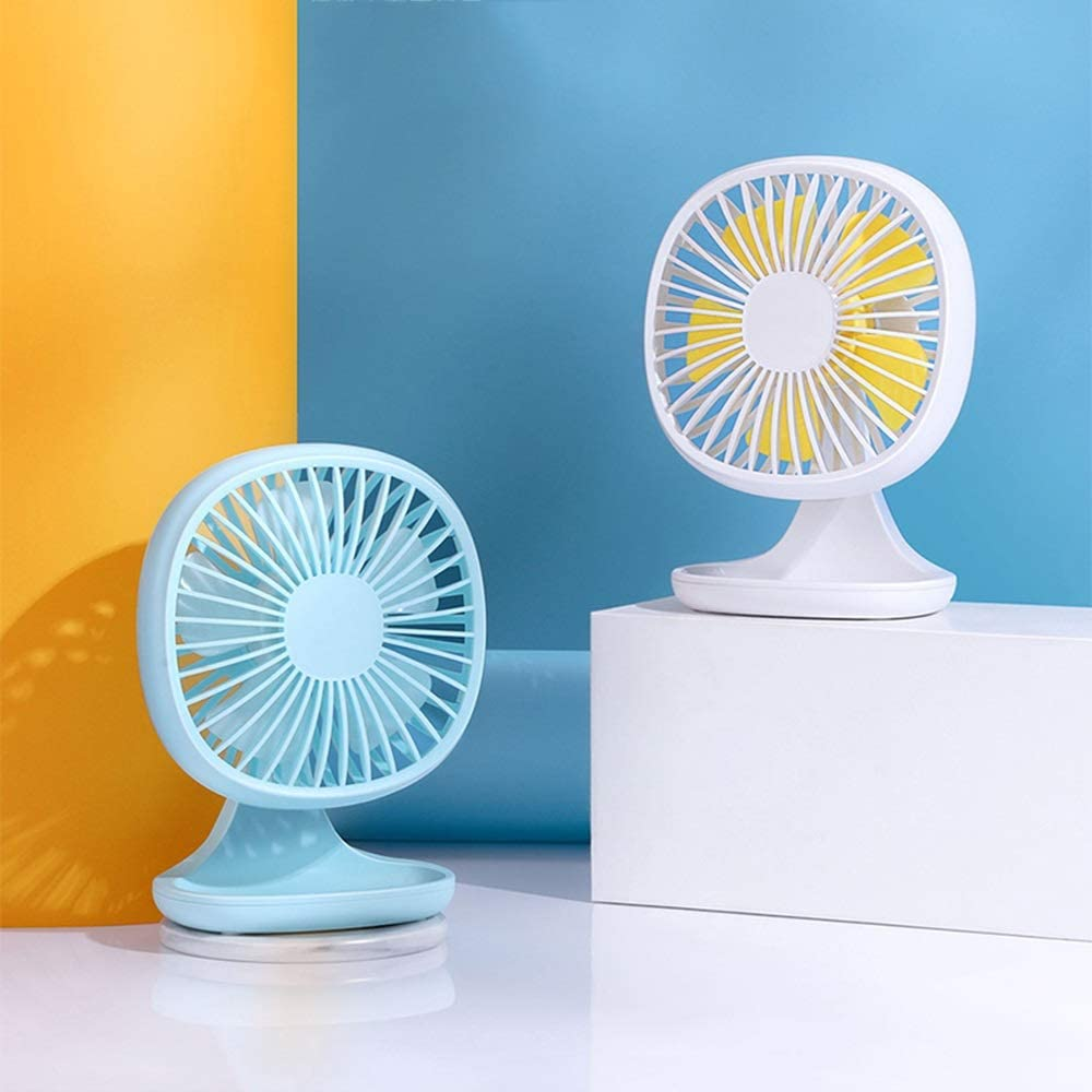 Small Portable USB Student Dormitory Three-Speed Wind Speed Silent Desktop Fan Color : White Hand-held Electric Fan