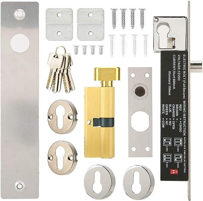 BTIHCEUOT Cerradura electromagnética magnética eléctrica, CC 12V ...
