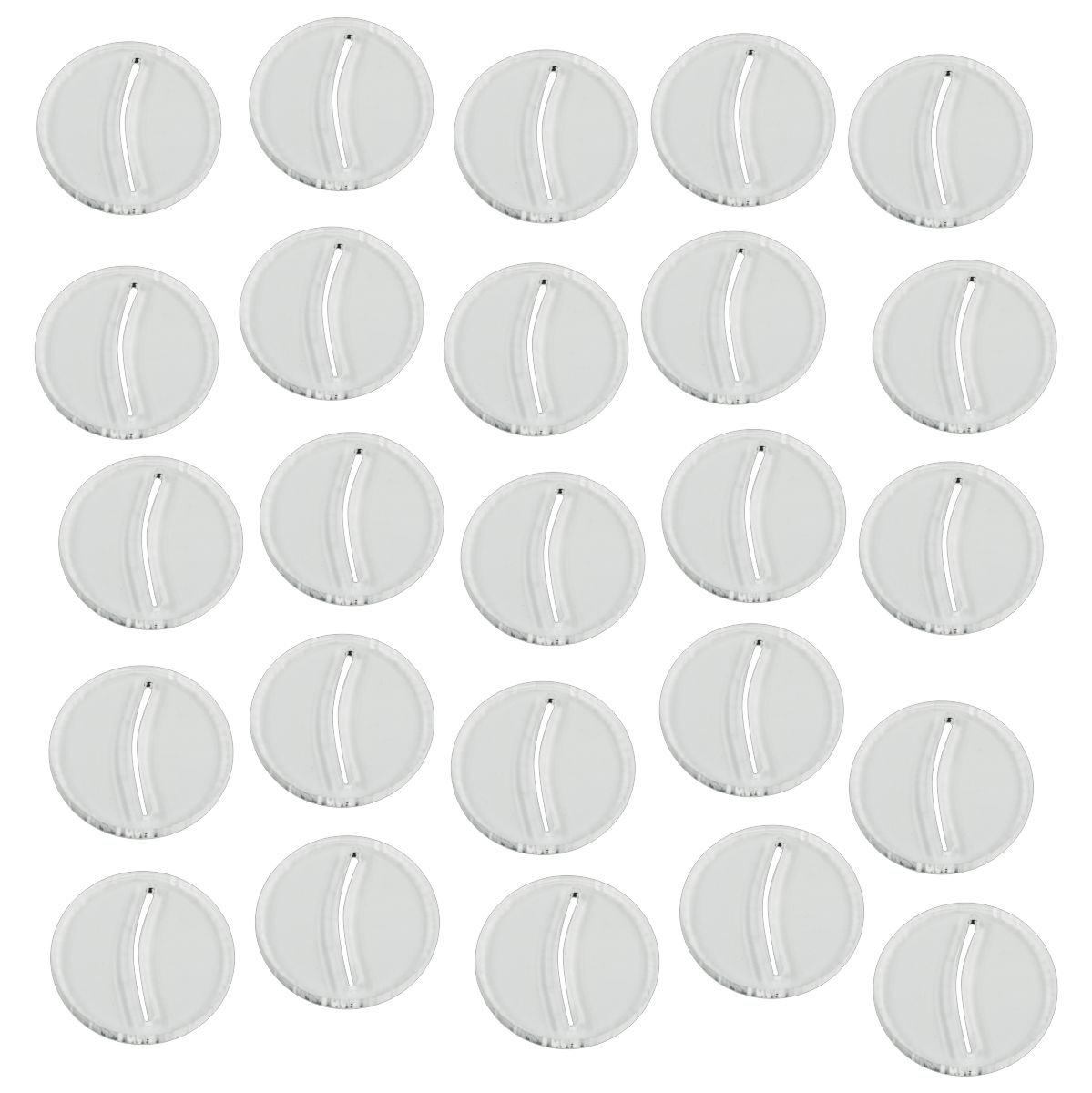 Paper Miniature Bases, 25mm Circle, 3mm Clear (25)