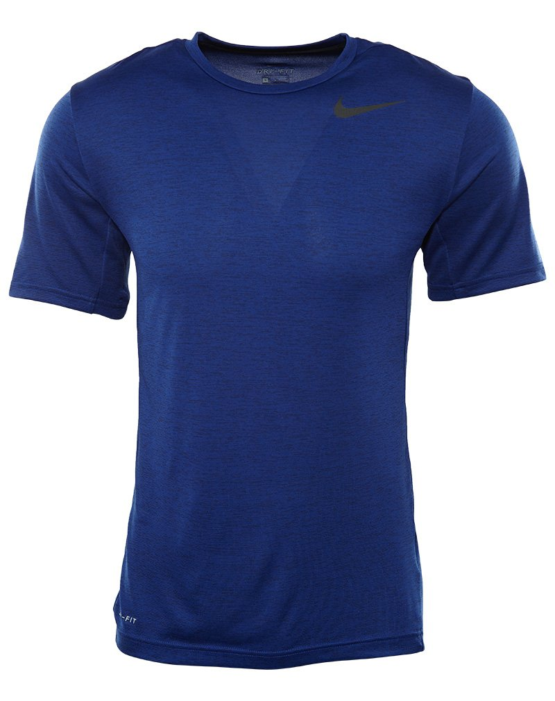 905e78825 Galleon - NIKE Men's Dri-Fit Training Short Sleeve Shirt Deep Royal Blue/ Obsidian/Black 2XL
