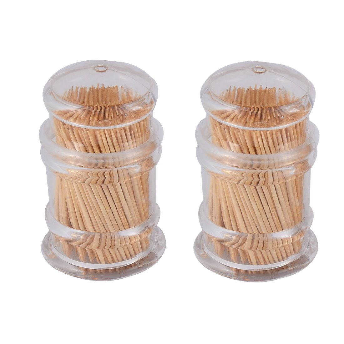 uxcell Plastic Home Restaurant Case Box Holder Container 2pcs Clear w Toothpicks a16031700ux0278