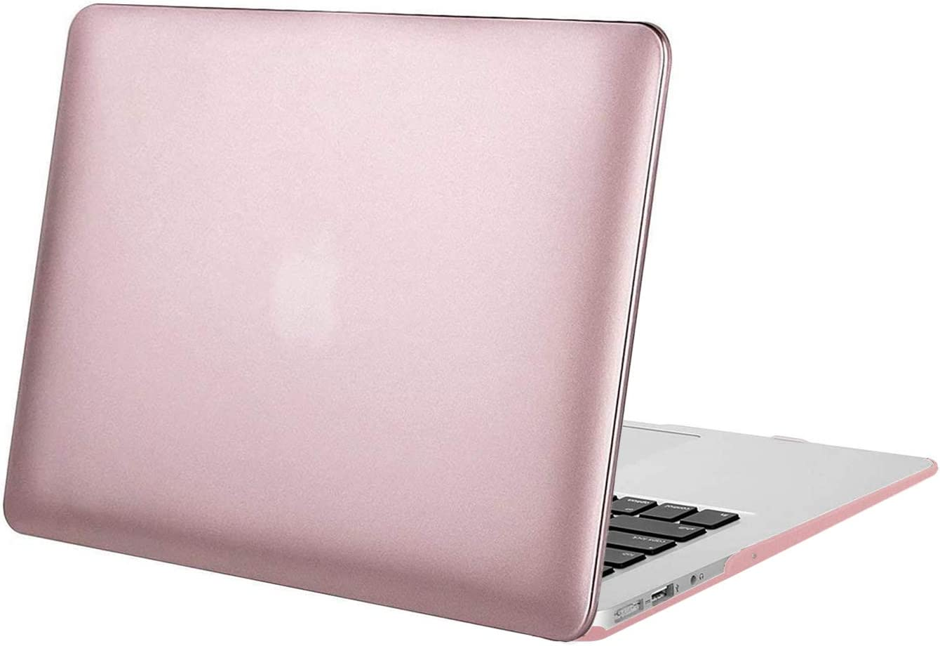 MOSISO Compatible with MacBook Air 13 inch Case (Models: A1466 & A1369, Older Version 2010-2017 Release), Protective Plastic Hard Shell Case Cover, Rose Gold