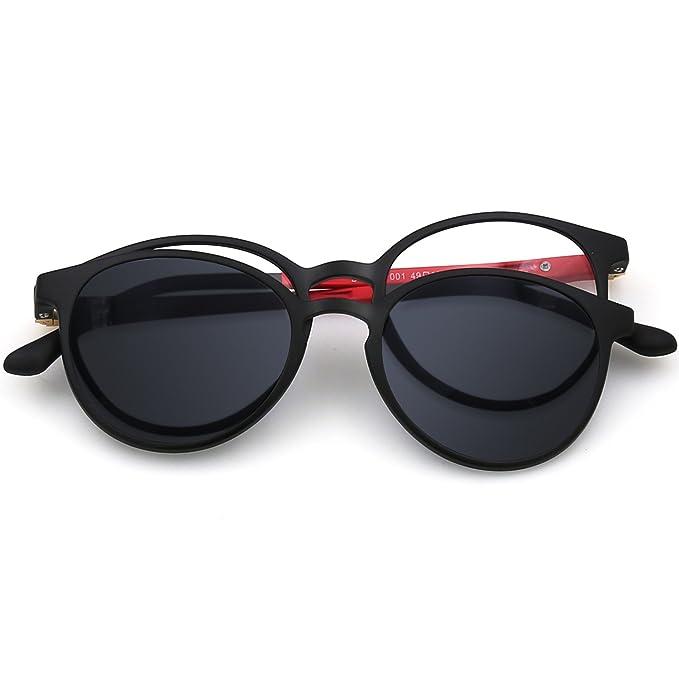 ZENOTTIC 2 en 1 Clip magnético en gafas de sol para gafas graduadas Hombres Marco flexible